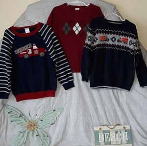 Boy's size 5t. Gymboree cotton sweaters